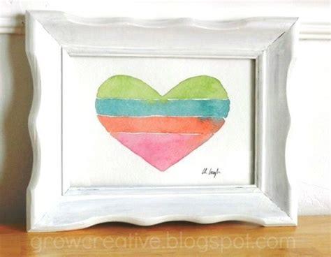 watercolor heart tutorial grow creative blog striped heart watercolor tutorial