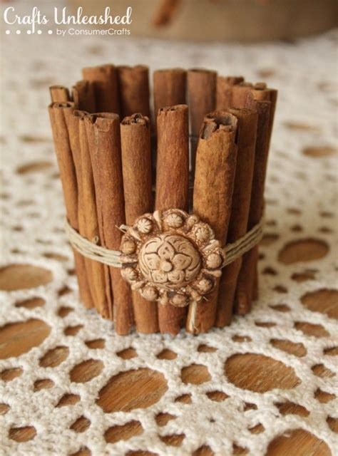 Handmade Candle Holders Ideas - easy diy craft cinnamon stick candle holder and a