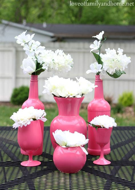 Inexpensive Vases For Centerpieces by Easy Inexpensive Centerpiece Ideas Spray Painted Vases