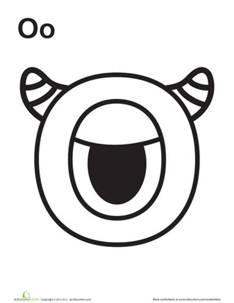 monster alphabet coloring pages alphabet monster coloring pages education com