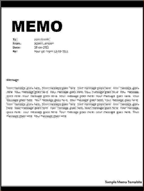 Memo Writing Guidelines 4 Memo Letter Formatreport Template Document Report Template