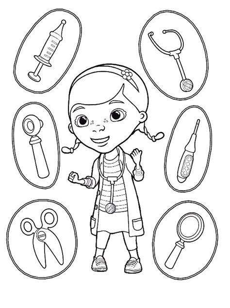 nurse tools coloring page doctora juguetes universo guia