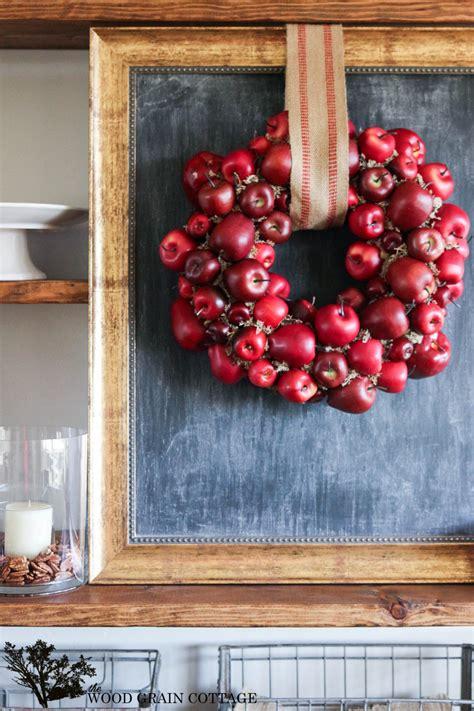 diy apple wreath the wood grain cottage