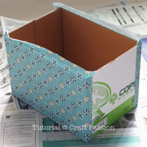 diy storage box diy fabric storage box with a handle shelterness
