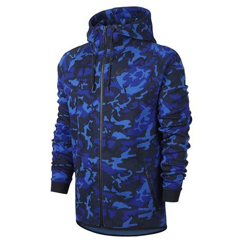 Jaket Hoodie Nike Tech Navy Grade Original nike tech fleece windrunner camo kap 252 蝓onlu erkek