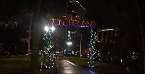 lake eola christmas lights tree lighting celebration city of orlando celebrations
