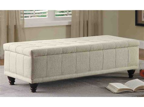 large storage bench large tufted storage bench ottoman