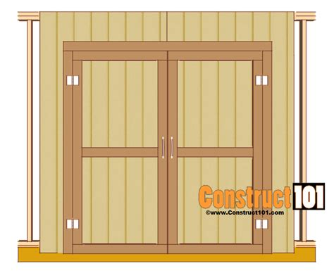 How To Hang Shed Doors by Shed Door Plans Pdf Construct101