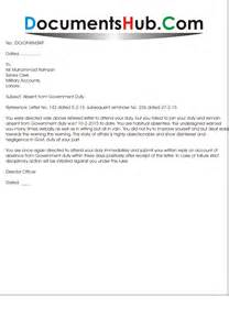 Sle Letter For Absence Without Notice Warning Letter To Employee For Absent Without Intimation Documentshub