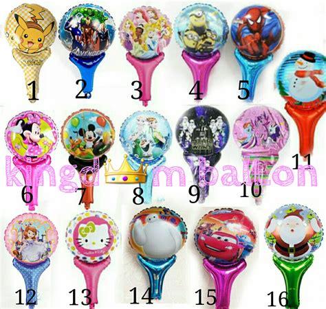 Balon Foil Kepala Minnie Mouse Balon Karakter Balon Murah Lucu jual balon pentung karakter kingdom ballon