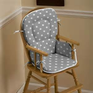 High chair pad gray and white dots and stripes high chair pad is rated