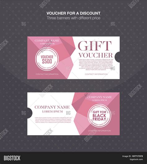 gift voucher template discount card cash coupon gift