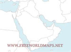 Gcc Countries Map Outline by Middle East Maps In Pdf Format Freeworldmaps Net