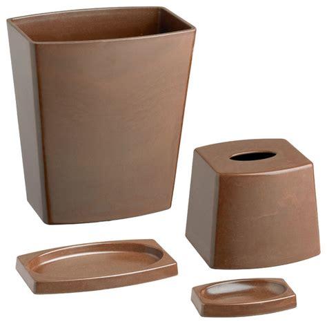 chocolate brown bathroom accessories kraftware my earth 4 bathroom set chocolate brown