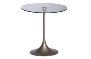 kleine beistelltische aus glas moderner kleiner runder tisch beistelltisch wiky aus