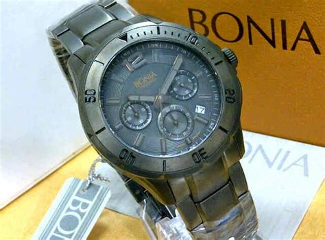 Bonia Bn10031 Black bonia tesoro bn 868 solid stainless steel original ready 3 warna pelita