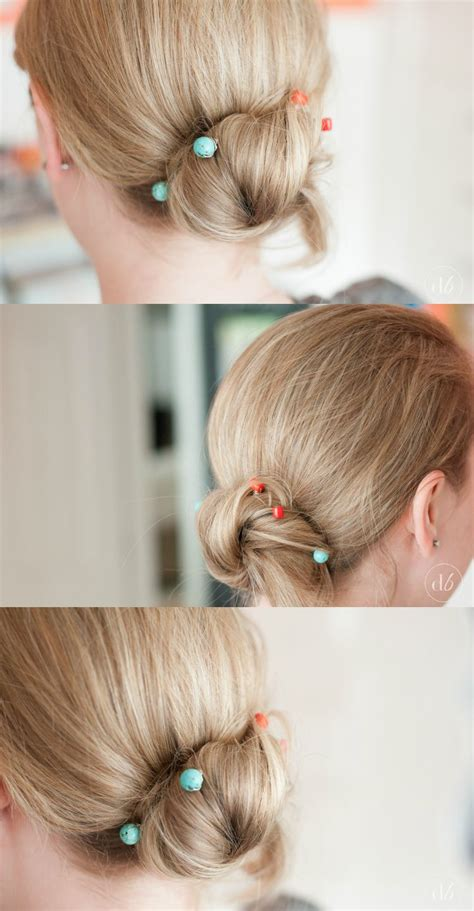 diy hairstyles with bobby pins diy beaded bobby pins oh my creative