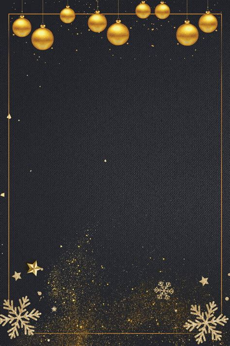 christmas poster background simple birthday card black starlight gold background material