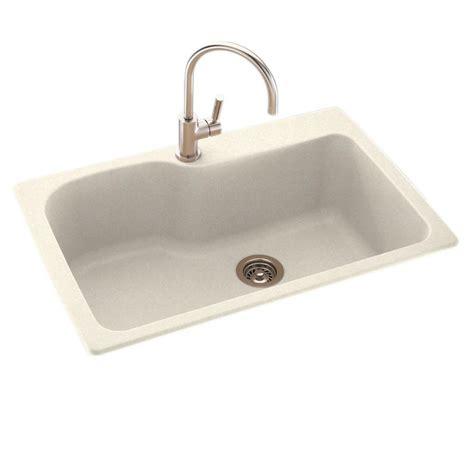 swanstone single bowl kitchen sink swanstone dual mount composite 33 in 1 single bowl