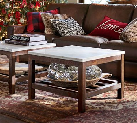 Pottery Barn Connor Coffee Table Connor Coffee Table Marble Pottery Barn