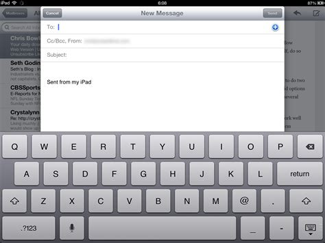 email layout on ipad ios keyboard has room for improvement chrisbowler com