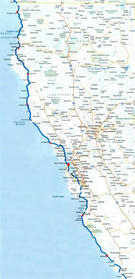 california map northern coast pacific coast rt