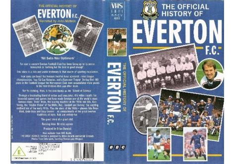 the official history of official history of everton fc the 1988 on bbc video united kingdom vhs videotape