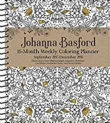 cupcakes calendar 2018 16 month calendar books johanna basford 2017 2018 16 month coloring weekly planner