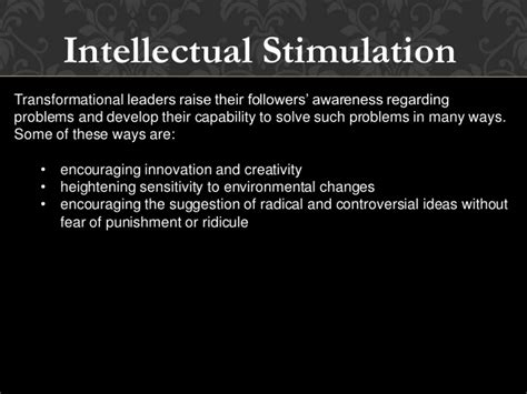 Intellectual Stimulation For Higher Education Mba by Ford Henry Ppt