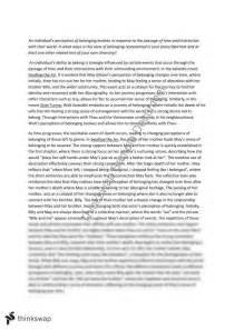 Belonging Essay Introduction by Belonging Essay Questions Essay On Belonging Advanced Belonging Essay Questions Essay
