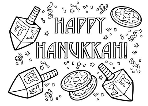 Hanukkah Coloring Page free printable hanukkah coloring pages for best