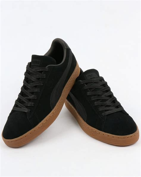 Kickers Gum Sole Black suede classic warmth trainers black shoes