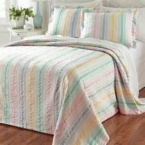 seersucker bedspreads cotton bedspread pastel stripe seersucker sham orvis