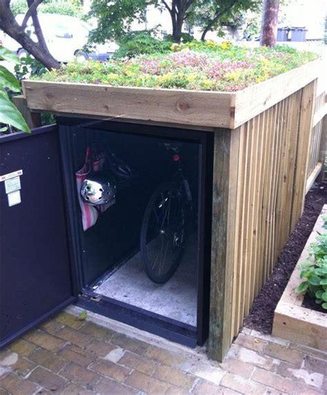 outdoor bike storage units