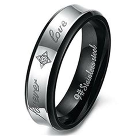 stainless steel comfort fit mens promise ring 29 95