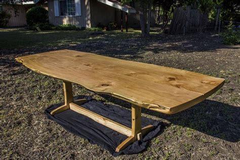 cypress slab dining room table by tomhumphrey