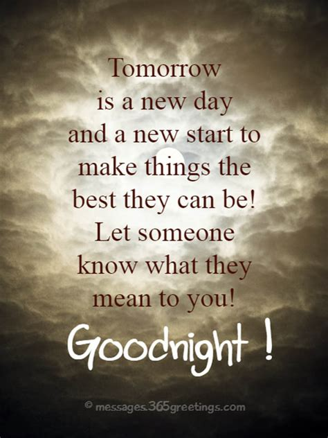 good night message for someone special for him goodnight quotes and sayings 365greetings