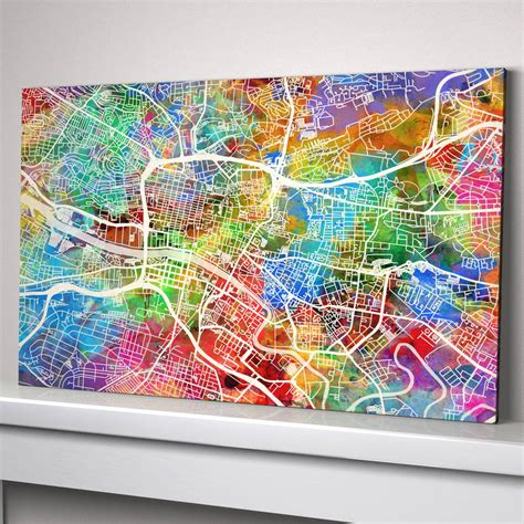How High To Hang A Picture On A Wall by Glasgow Map Art Print By Artpause Notonthehighstreet Com
