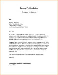 Petition Cover Letter Sle Petition Letter Best Letter Sle