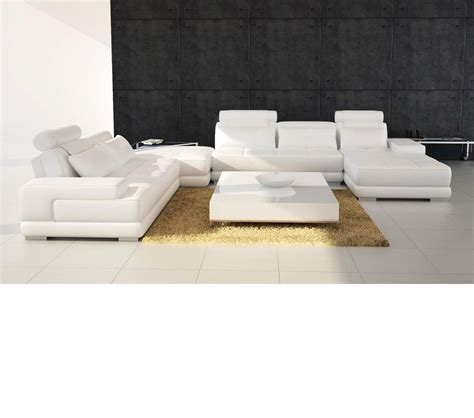 Modern Leather Sectional Sofas by Dreamfurniture Divani Casa 5005 Modern