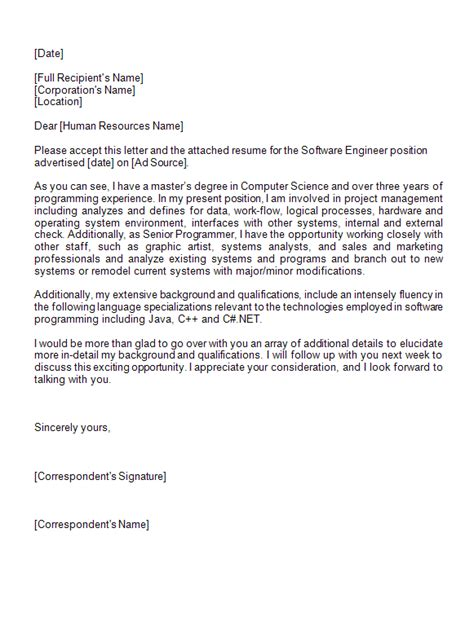 Reference Letter Software Engineer Expression Of Interest Letter Sle Exle Exle Expression Of Interest Letter For