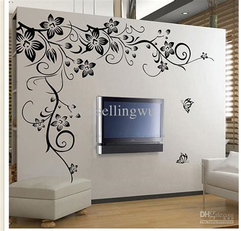 Large Wall Stickers For Living Room new home fashion decoration beautiful flower vinyl wall