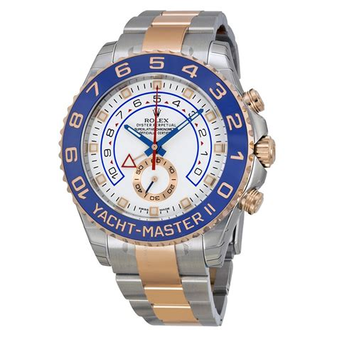 rolex yacht master ii white dial stainless steel
