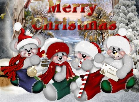 cool merry christmas bears wallpaper wallpaperlepi
