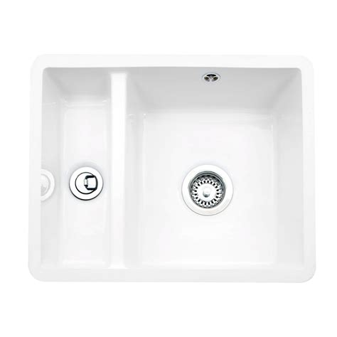 ceramic undermount kitchen sink caple friska 1 5 bowl undermount ceramic sink sinks taps com