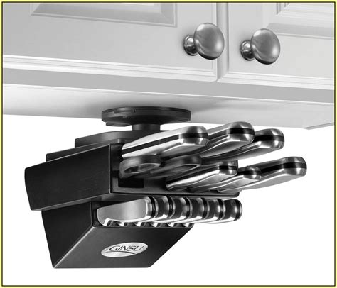 under cabinet knife block magnetic knife rack home design ideas