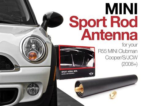 ecs news mini r55 clubman sport rod antenna