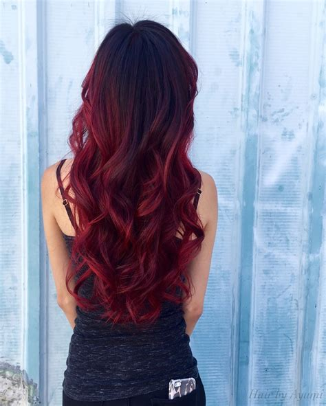 red ombre hair balayage red ombre red hair pinterest red ombre