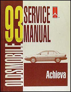vehicle repair manual 1996 oldsmobile achieva free book repair manuals 1993 oldsmobile achieva repair shop manual original