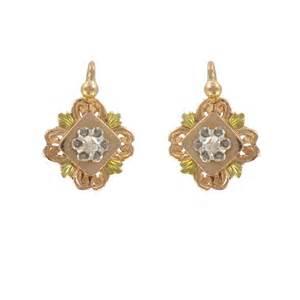 boucles d oreilles diamants anciennes